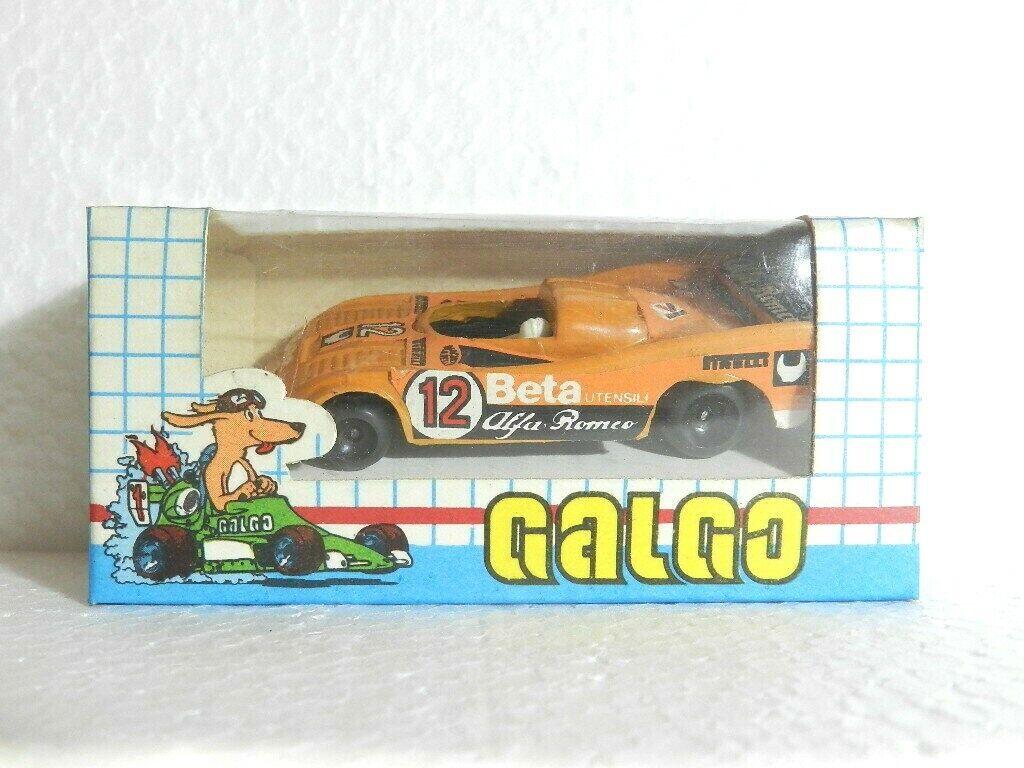 Sport Prougeotype Die-cast métal marque Galgo années 1980 échelle 1 64 Nº 12 ALFA ROMEO
