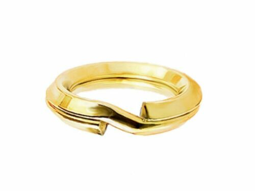 multibuy Solid Sterling Silver 24k gold plated Split Rings FREE delivery