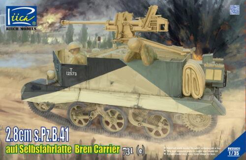 e Riich Models 1//35 2,8cm s.Pz.B.41 auf Selbsfahrlatte Bren Carrier 731 # RV350