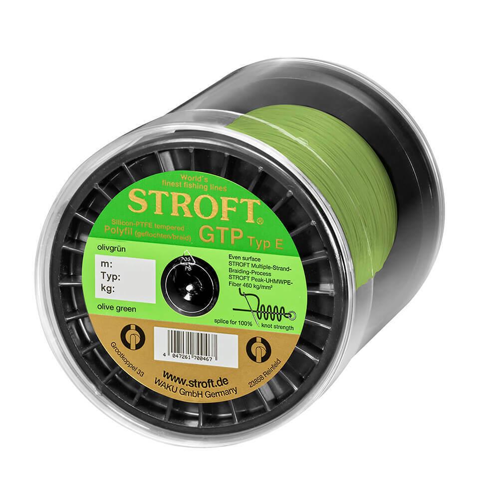 Stroft corda GTP tipo e Intrecciato verde Oliva 1000m lenza lenze a canne corda