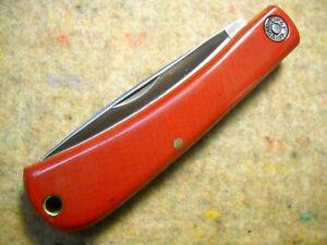 Great Eastern Cutlery Farm & Field # 71 Bull Nose Knife Red Linen Micarta NIT