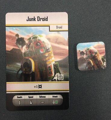 Star Wars Imperial Assault 2017 Store Championship Junk Droid Token /& Card