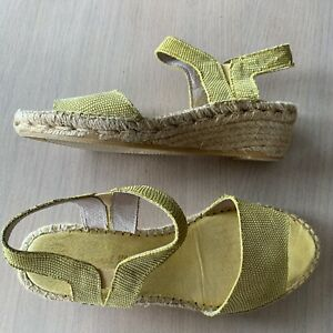 Details about The Natural Shoe Yellow Women's Espadrille Shoes Size 38
