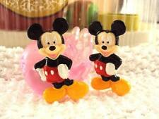 5 x 32MM MICKEY MOUSE FLAT BACK RESIN EMBELLISHMENTS HEADBANDS BOWS CARD MAKING