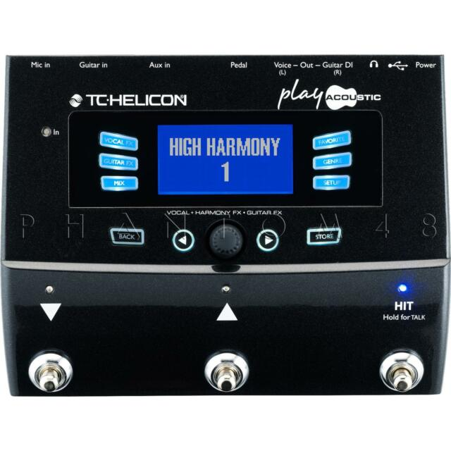 TC Helicon Play Acoustic Guitar & Vocal Live/Studio Effects Pedal Processor NEW