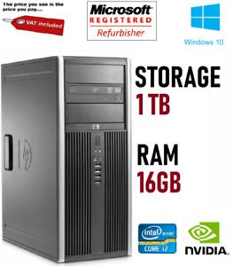 PC-Hp-Oficina-Elite-8300-Core-i7-16GB-Ram-1TB-HDD-NVIDIA-GPU-escritorio-de-Windows-10