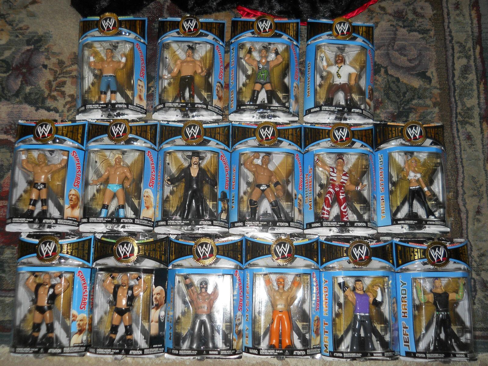 Jakks WWF WWE classeIC WRESTLING SUPERestrellaS ljn CHASE cifra,moc cifra,moc cifra,moc LOT b9b1bf