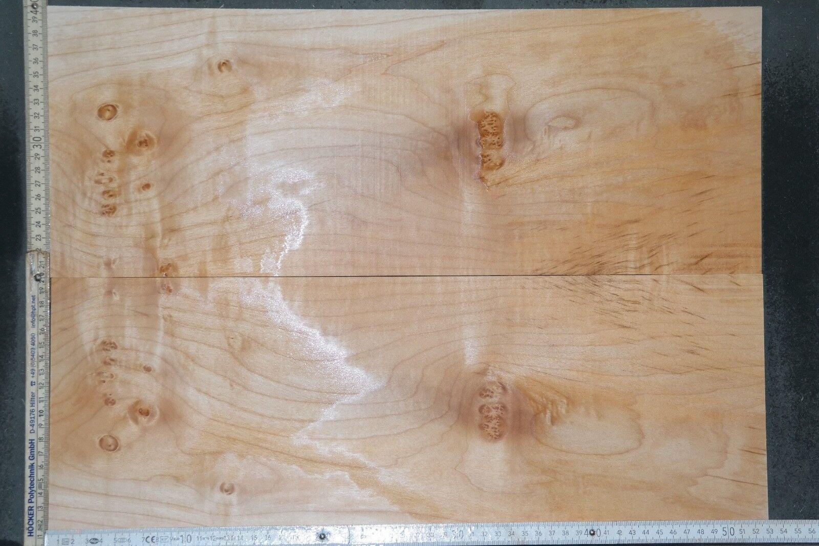 Tonewood linguetta Maple Acero FLAMED aufleimer 6,7 Guitar Tonholz Curly Topset 103