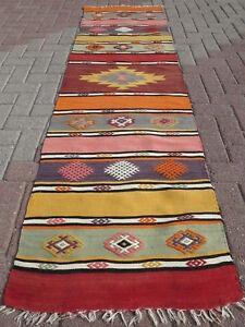 Image Is Loading Anatolia Turkish Kilim Rug Runner Carpet 26