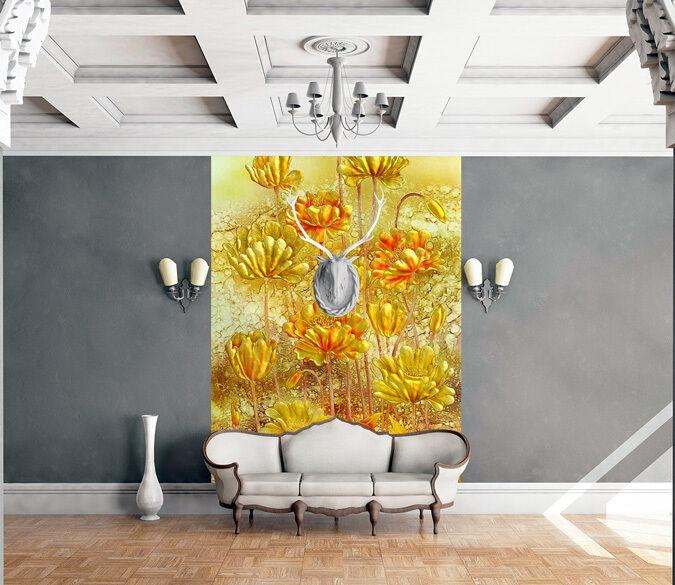 3D Costoso Fiore Parete Murale FotoCarta da parati immagine sfondo muro stampa