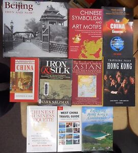 China-amp-Hong-Kong-Travel-10-Book-Lot-Customs-Manners-Business-Culture-Chinese
