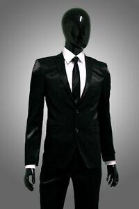 anzug glänzend schwarz