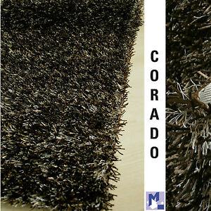 VENTA-Dekowe-CORADO-Shaggy-50-marron-Alfombra-Poliester-Rayon-Ganga