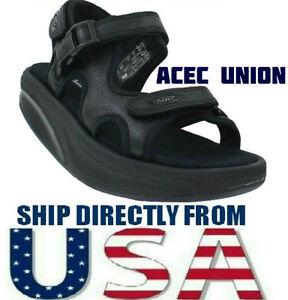 MBT Kisumu 3S Black Leather Women s Sandal Size 35   US 4 - 4.5 ... a6d7647dab