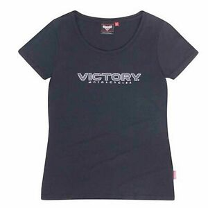 Victory-Motorcycle-New-OEM-Women-039-s-Black-Block-Logo-Tee-Shirt-Pick-Size