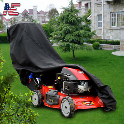 Push Lawn Mower Cover Heavy Duty Universal Fit Size Waterproof /& Storage Bag NEW