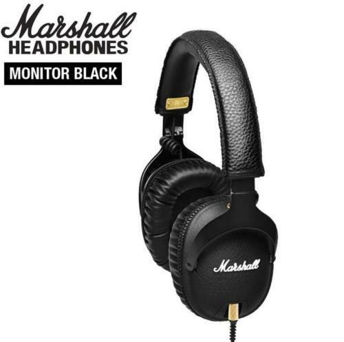 Genuin Marshall MONITOR Over-Ear Headphones Headset Stereo Ear Mic Bass w mic