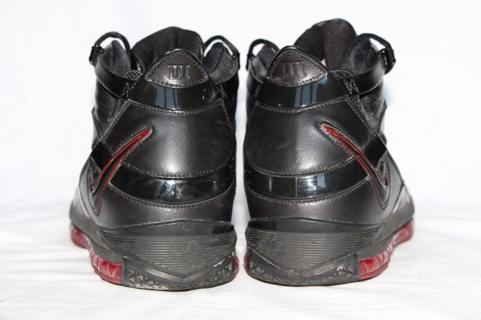 Nike Nike Nike air zoom lebron iii schwarzes leder hohem basketball männer us - 11,5 7479bf