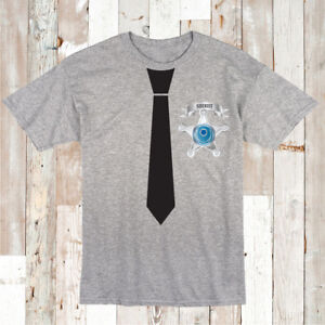 Sheriff-Tie-Shirt-Funny-Boys-Tee-T-shirt-Police-Cowboy-Birthday-Gift-Tee-cc95