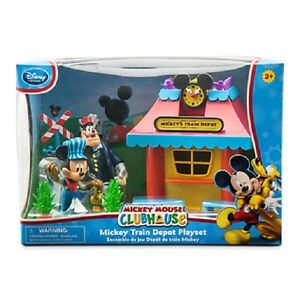 WDW-DISNEY-MICKEY-MOUSE-CLUBHOUSE-TRAIN-DEPOT-PLAY-SET-BRAND-NEW-IN-BOX
