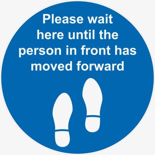 Please wait here Cov-19 Social Distance Floor Sticker