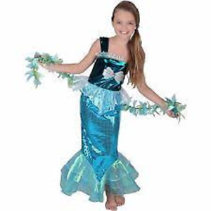 Image is loading Little-Girls-Mermaid-Halloween-Sequin-Costume-Dress-Teal-  sc 1 st  eBay : sequin costume  - Germanpascual.Com