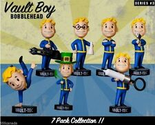 FALLOUT 3 4 VAULT BOY 111 BOBBLEHEADS - SERIES 3 THREE - 7 PACK