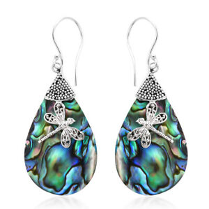 925 Silver Abalone Shell Dangal Drop Earrings Fashion Jewelry Gift For Women