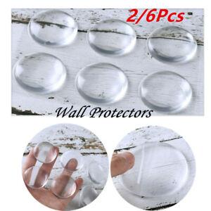 6Pcs Door Stay Punch-free Wall Protectors Clear Door Handle Buffer Knob Bumper