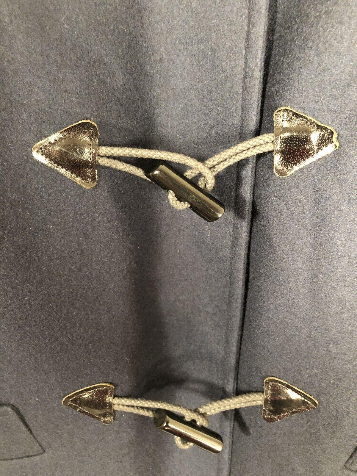 Pendleton Vintage Blue Wool Luxury Toggle Duffel … - image 4