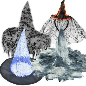 Hexenhut Halloween Kostüme Hexe Verkleidung Zubehör Karneval Fasching Zauberin