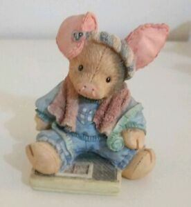 TLP-This-Little-Piggy-034-Had-None-034-Diet-Pig-Collectable-Enesco-Figurine