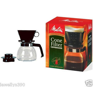 Image Is Loading Melitta Manual 6 Cup Cone Filter Coffee Maker