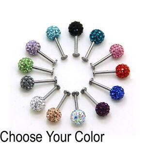 Piercing-Levre-labret-Monroe-perle-Shamballa-cristal-multi-coloris