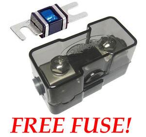 4 or 8 AWG Gauge Ga Mini ANL Car Audio Power Wire Fuse Holder MIDI Amp Install