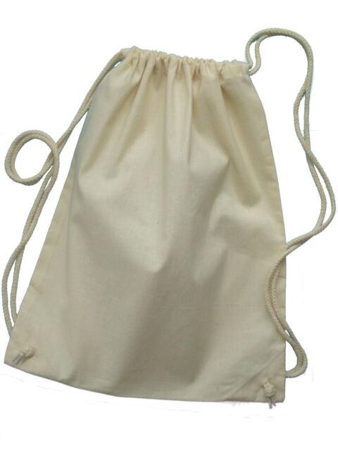 Natural Cotton Kit Bag Rope Drawstring 43cmx33cm Fabric Painting Bag Kids Child