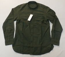 Uniqlo Men's Flannel Stand Collar Long Sleeve Shirt Olive GG8 Size XS NWT