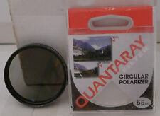 Quantaray 55mm C-P.L. Circular Polarizer Lens Filter with Case Made in Japan