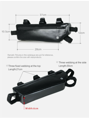 36x6x12cm Bike Front Frame Tube Bag Road Bicycle Case Tool Storage Triangle Bag
