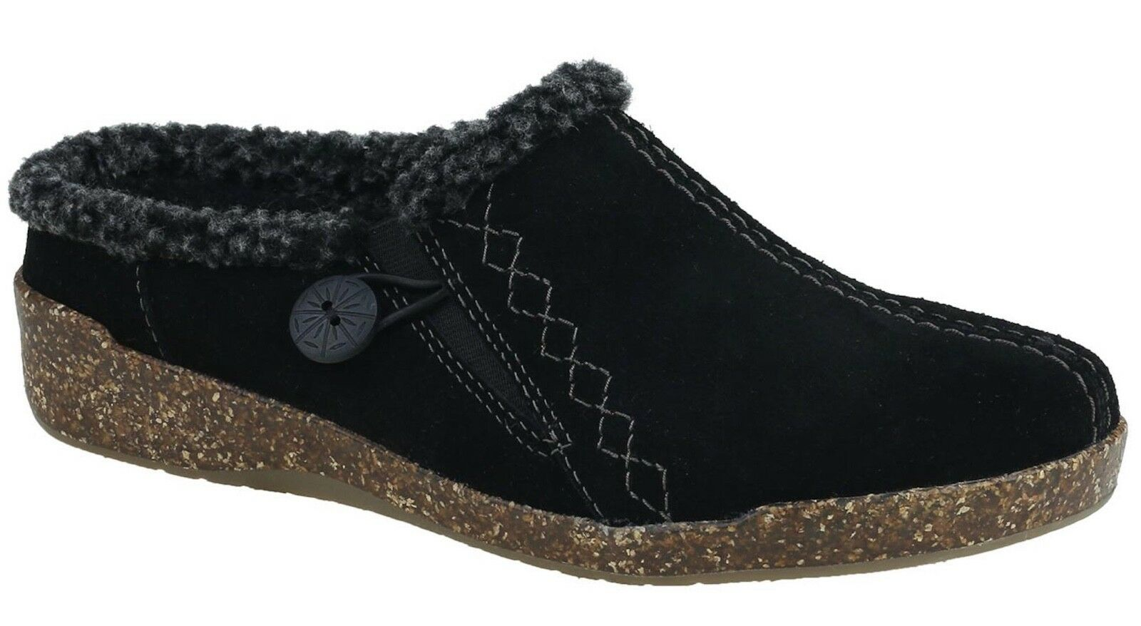 Womens Earth Origins Johanna Black Suede Slip Slip Slip Ons shoes a60bc5