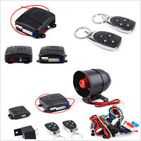 1-Way Car Vehicle Alarm Security Protection Keyless Entry System w/ 2 Remote