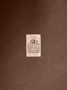 Stemma-o-blasone-della-citta-di-La-Gourgue-Francia-Anno-1865-Araldica