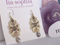 Lia Sophia Gold madeira Dangle Earrings, M-o-p,