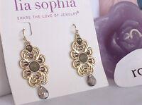 Lia Sophia Gold madeira Dangle Earrings, M-o-p,