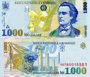 ROMANIA 1000 Lei Banknote World Paper Money UNC Currency Pick p106 Bill Note | eBay