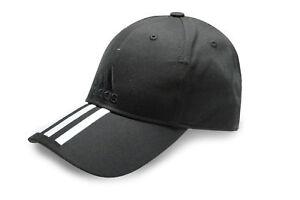 ab0df7a3bf5da adidas Mens 3 Stripes Cotton Sports Casual Hat Baseball Cap Black ...