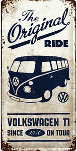vintage vw bus reklame werkstatt service schild poster. Black Bedroom Furniture Sets. Home Design Ideas