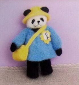 Needle-Felted-Animal-little-1-panda-Wool-Art-Sculpture-ooak-miniature-handmade-z