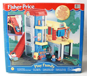 Very Rare Vintage 1999 Fisher Price Fun Sounds Garage Little People New Nos 75380726932 Ebay