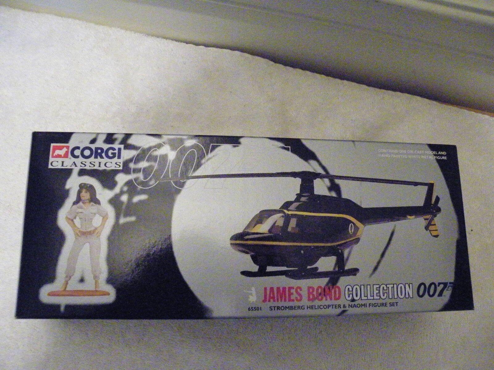 Bond Corgi classics classics classics helicopter w figure-MIB 9cfcc7